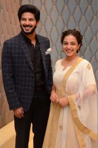 Dulquer Salmaan, Nithya Menen @ 100 Days of Love Pre-Release Press Meet Stills
