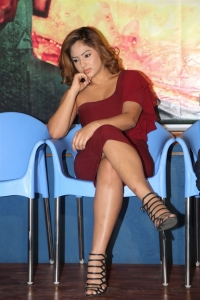 Actress Nikesha Patel Hot Stills @ Araku Road Lo Press Meet