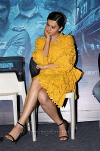 Taapsee Pannu Stills in Yellow Dress at Ghazi Press Meet