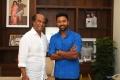 Actor Shanthanu Bhagyaraj @ Rajinikanth with Mupparimanam Movie Team Photos