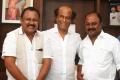 Producer Pollachi V Visu, Pollachi Gold V Kumar @ Rajinikanth with Mupparimanam Movie Team Photos