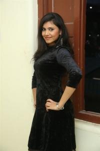 Tik Tak Actress Mounika in Black Dress Stills