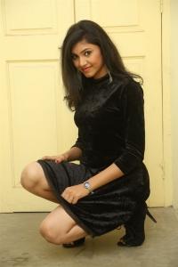 Tik Talk Actress Mounika in Black Dress Stills