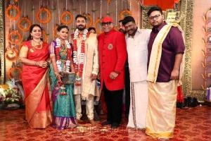 Seetha, Drums Sivamani @ Parthiban daughter Keerthana Akshay Wedding Photos
