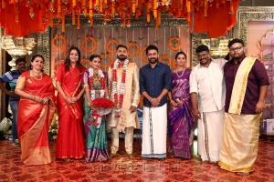 Seetha, Jyothika, Suriya @ Parthiban daughter Keerthana Akshay Wedding Photos