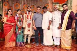 Seetha, Kamal Haasan @ Parthiban daughter Keerthana Akshay Wedding Photos