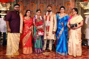 Seetha, Meena @ Parthiban daughter Keerthana Akshay Wedding Photos