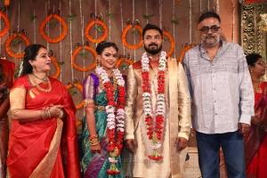 Seetha, PC Sreeram @ Parthiban daughter Keerthana Akshay Wedding Photos