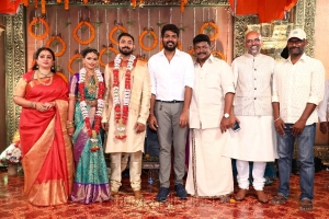 Seetha, Vignesh Shivan, Sreekar Prasad @ Parthiban daughter Keerthana Akshay Wedding Photos