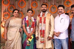 Sripriya, Rajkumar Sethupathy @ Parthiban daughter Keerthana Akshay Wedding Photos