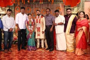 Vishal, GK Reddy @ Parthiban daughter Keerthana Akshay Wedding Photos