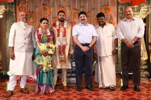 Kalanithi Maran @ Parthiban daughter Keerthana Akshay Wedding Photos
