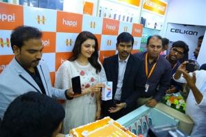 Actress Kajal Agarwal Launches Happi Mobiles at Karimnagar Photos