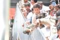 Bharat Ane Nenu Team at Vijayawada Durgamma Temple Photos