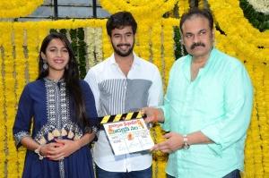 Niharika Konidela, Rahul Vijay, Nagababu @ Nirvana Cinemas Production No 1 Movie Opening Stills