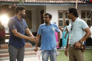 Santhosh Jagarlapudi, Sumanth @ Subramanyapuram Movie Working Stills