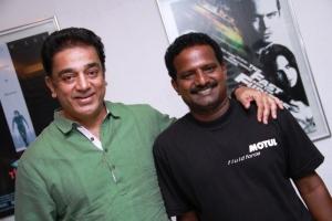 Kamal Haasan with Director Ponram of OKOK Team