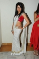 Telugu Actress Amrutha Hot in White Saree with Red Blouse