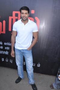 Actor Jayam Ravi at Nimirndhu Nil Movie Launch Stills