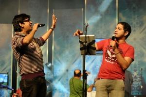 Karthik, Vijay Prakash at Maatraan Movie Audio Launch Dance Practice Stills