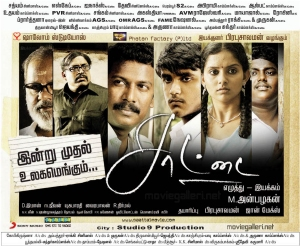 Saattai Movie Release Posters