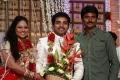 Sivakarthikeyan at Choreographers Shobi Lalitha Wedding Reception Stills