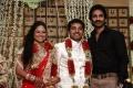 Actor Aadhi at Choreographers Shobi Lalitha Wedding Reception Stills