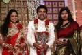 Gayathri Raguram at Choreographers Shobi Lalitha Wedding Reception Stills