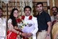 Actor Nandha at Choreographers Shobi Lalitha Wedding Reception Stills