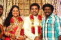 Karunas at Choreographers Shobi Lalitha Wedding Reception Stills