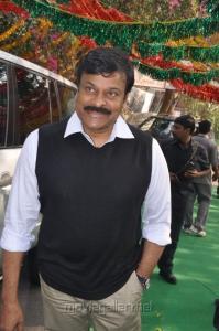 Chiranjeevi at Biscuit Telugu Movie Opening Photos