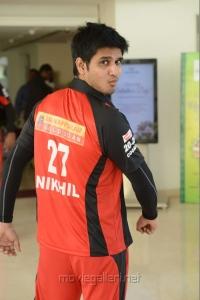 Nikhil Siddharth in CCL Telugu Warriors Team Members 2013 Photos