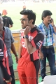 Ram Charan Teja at Telugu Warriors Taj Deccan to LB Stadium Photos