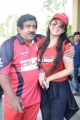 Chamundeswaranath, Charmi at Telugu Warriors Taj Deccan to LB Stadium Photos