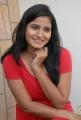 New Telugu Actress Tanusha Hot Photos in Red Frock Dress