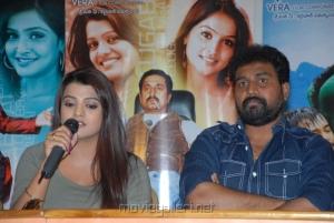Tashu Kaushik, OS Avinash at Telugabbayi Movie Press Meet Stills