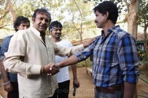 Mohan Babu, Veeru Potla at Manchu Vishnu New Movie Launch Photos