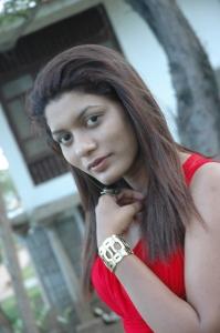 Actress Prithiksha Mythili at Kandanam Movie Shooting Spot Photos