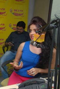 Actress Piaa Bajpai at Radio Mirchi on Back Bench Student Promotion
