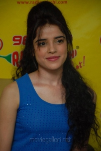 Actress Piaa Bajpai Stills at Radio Mirchi for Back Bench Student Promotion