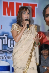Manchu Lakshmi Prasanna at Gundello Godari Movie Success Meet Stills