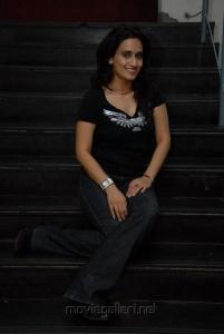 Chinmayi Ghatrazu in Black Dress Photoshoot Stills