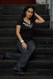 Chinmayi Ghatrazu in Black Dress Photo Shoot Stills