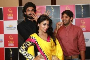 Rana, Shriya, Arya at SIIMA Awards 2013 Announcement Stills