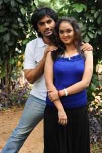 Sri, Mounika @ Ameerpet Lo Movie Launch Stills