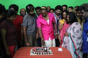 cricketer Dwayne Bravo at Ula Movie Shooting Spot Stills