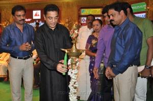 Kamal Hassan @ 9th Chennaiyil Thiruvaiyaru Inauguration Photos
