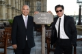 Rt Hon Keith Vaz MP and Shah Rukh Khan at Britain's House of Commons in London
