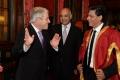 Speaker  Rt Hon John Bercow, Rt Hon Keith Vaz MP and Shah Rukh Khan at Britain's House of Commons in London