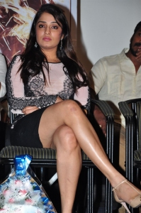 Actress Nikita Thukral @ Terror Movie Logo Launch Stills